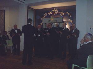 Der Chor der Israelitischen Gemeinde Basel bei der Einweihung der Synagoge Lörrach