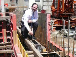 Beim Bau der Mikwé der Synagoge Lörrach