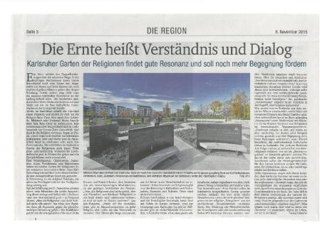 20151108 - Karlsruher Sonntagszeitung - Podiumsdiskussion Garten der Religionen-1