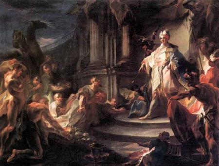 Joseph mit seinen Brüdern wieder vereint - Franz Anton Maulbertsch 1724