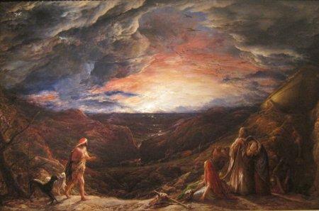 Noach, am Vorabend der Sintflut - John Linell (1848)