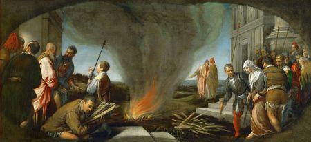 Tamar wird zum Brandstapel geführt - Jacopo da Ponte, 1566/67